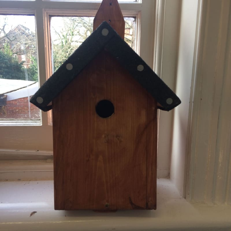Wooden Bird Box - Stained finish
