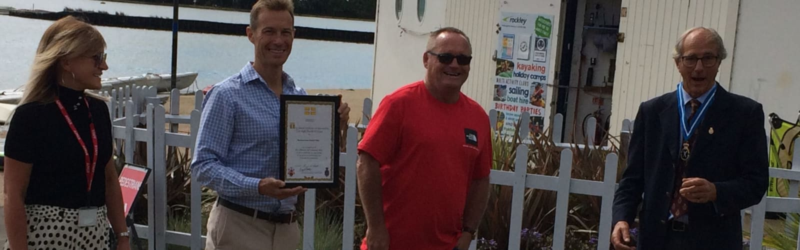 Footprints receives two awards from George Streatfield, High Sheriff of Dorset