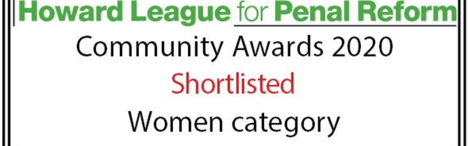 Footprints Women's Scheme is Shortlisted For a Howard League Community Award